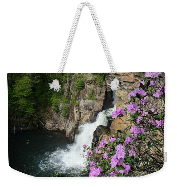 Linville Falls Carolina Rhododendron Weekender Tote Bag