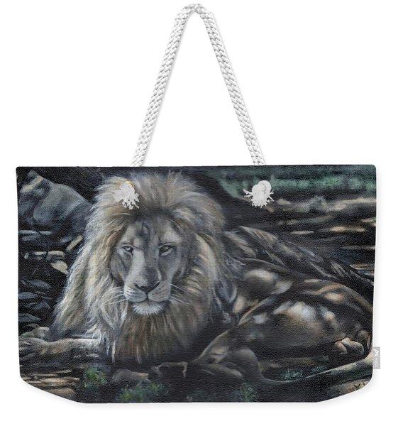 Lion In Dappled Shade Weekender Tote Bag