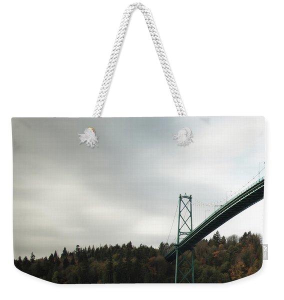 Lions Gate Bridge Vancouver Weekender Tote Bag