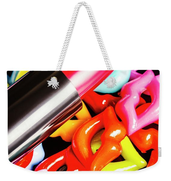 Lip Stack Weekender Tote Bag