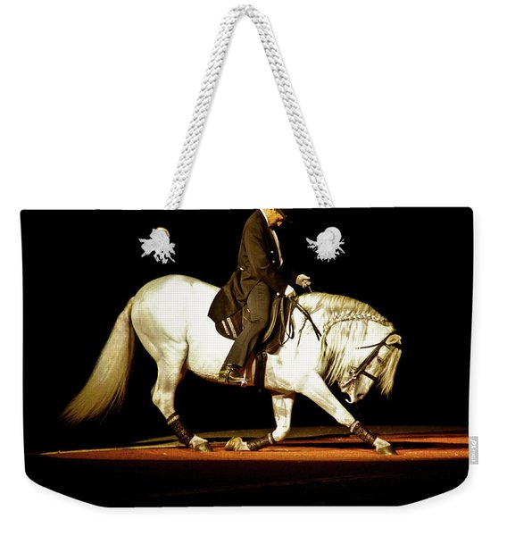 Weekender Tote Bag featuring the photograph Lipizzan by Catherine Sobredo