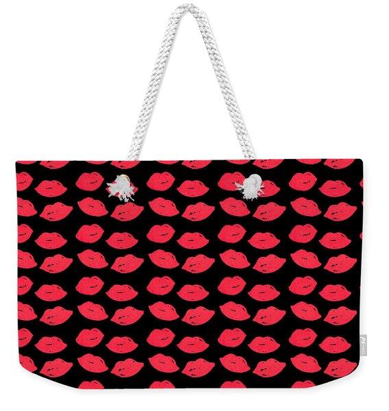 Lips Weekender Tote Bag