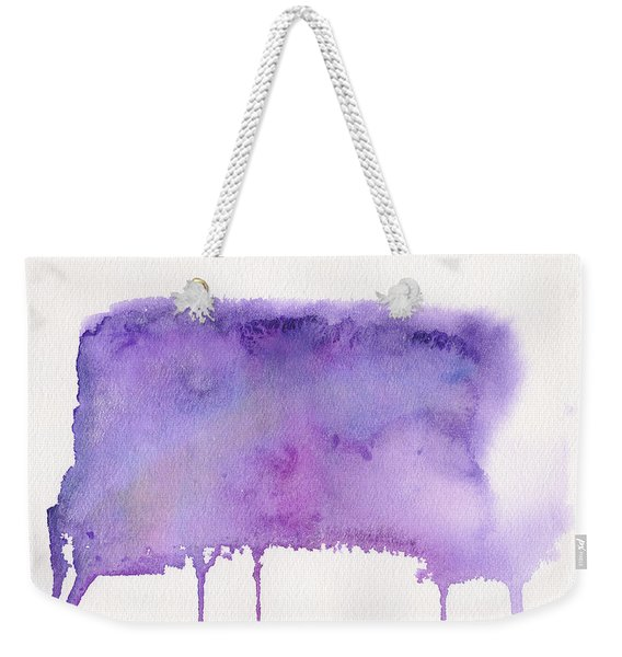 Weekender Tote Bag featuring the painting Liquid Galaxy by Bee-Bee Deigner
