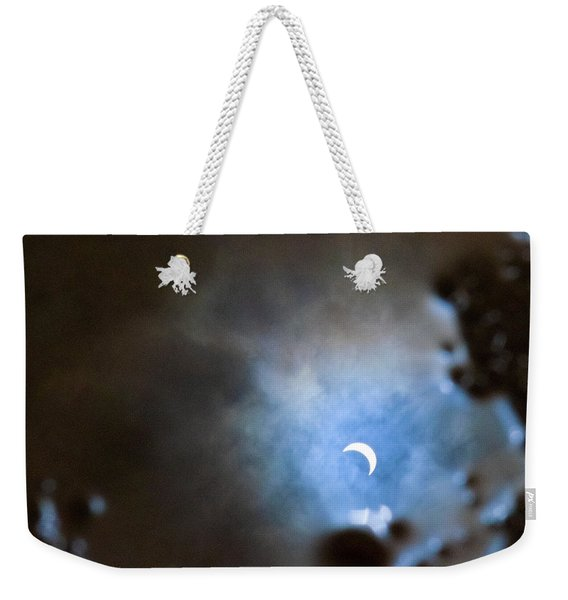 Liquified Solar Eclipse Weekender Tote Bag