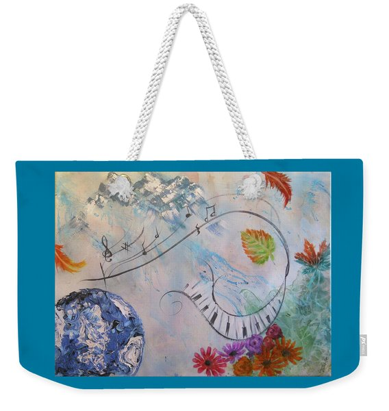 Listen To The Earth Song Weekender Tote Bag