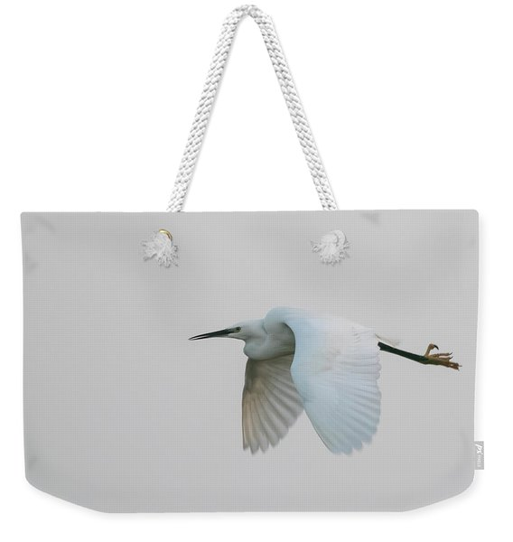 Little Egret Evening Flght Weekender Tote Bag