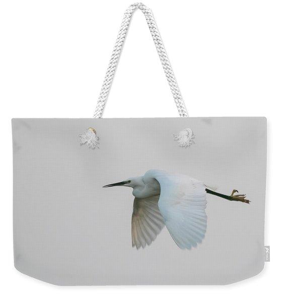 Little Egret Evening Flght Weekender Tote Bag