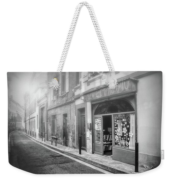 Little Music Shop Toulouse France Black And White  Weekender Tote Bag