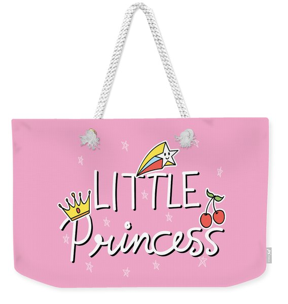 Little Princess - Baby Room Nursery Art Poster Print Weekender Tote Bag