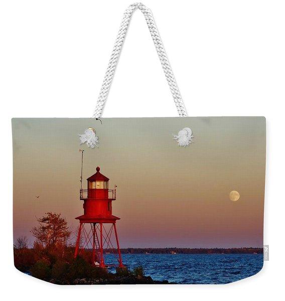 Little Red Moonrise Weekender Tote Bag