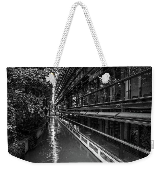 Little River, Big Building Weekender Tote Bag