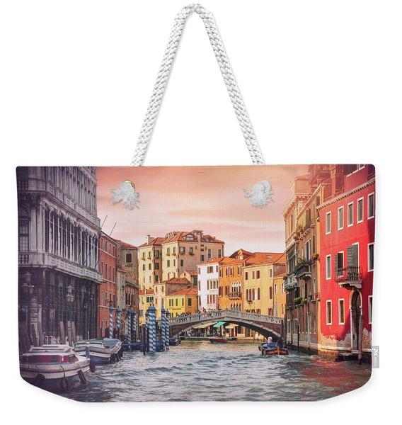 Living On Water  Scenes Of Venice Italy  Weekender Tote Bag
