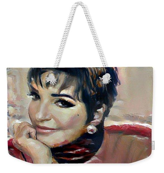 liza Minelli Weekender Tote Bag
