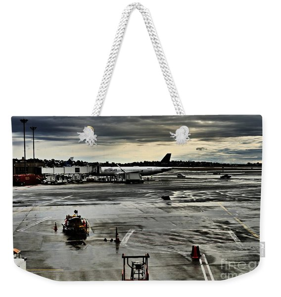 Logan Airport Overcast Day Weekender Tote Bag