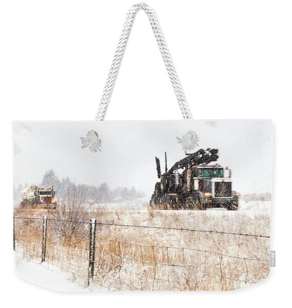 Logging Truck Weekender Tote Bag