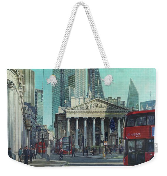 London City Bank Area In Sunny Autumn Weekender Tote Bag