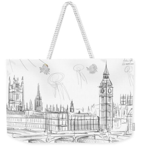 London Landscape Drawing Weekender Tote Bag