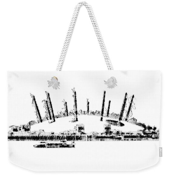 London O2 Arena Weekender Tote Bag