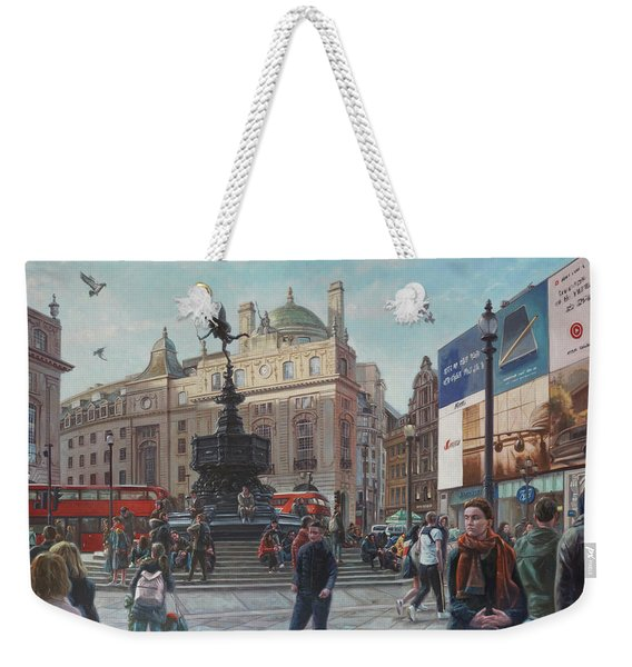 London Piccadilly Circus With Evening Light Weekender Tote Bag