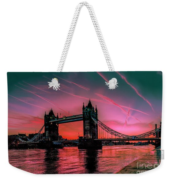 London Tower Bridge Sunrise Pano Weekender Tote Bag
