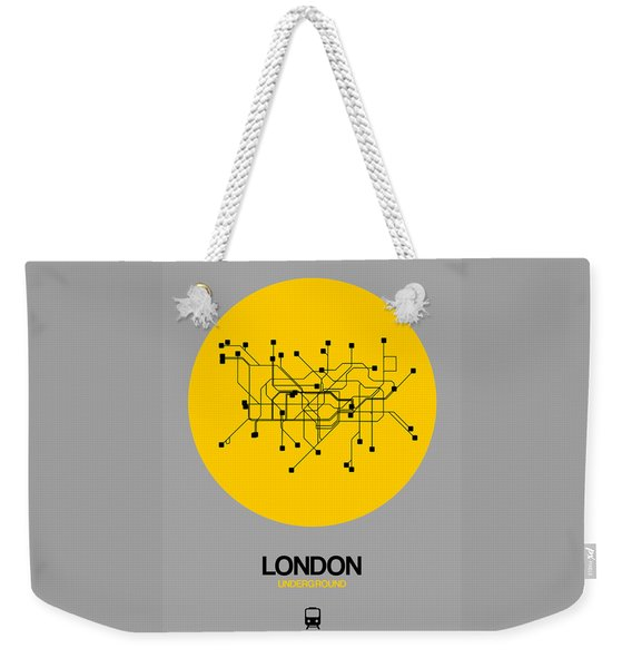 London Yellow Subway Map Weekender Tote Bag