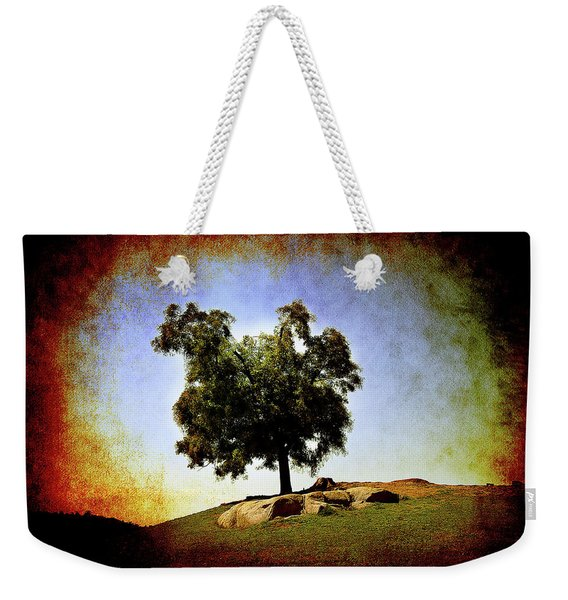 Lone Tree On The Hill Weekender Tote Bag