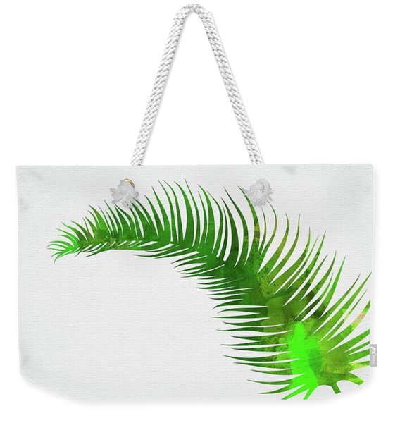 Lonely Tropical Leaf Weekender Tote Bag