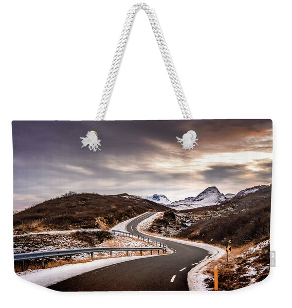 Long And Winding Road Weekender Tote Bag