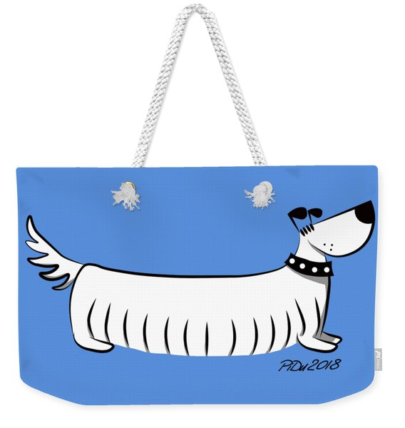 Long Dog Weekender Tote Bag