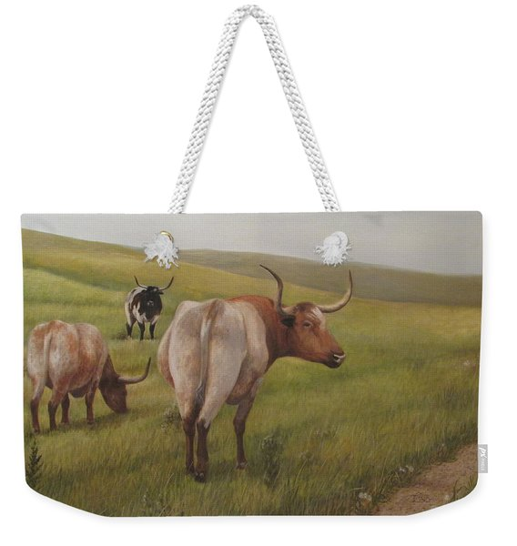 Long Horns Weekender Tote Bag