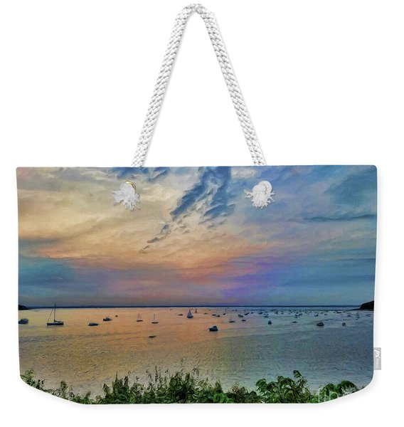 Long Island Sound From Glen Cove Weekender Tote Bag