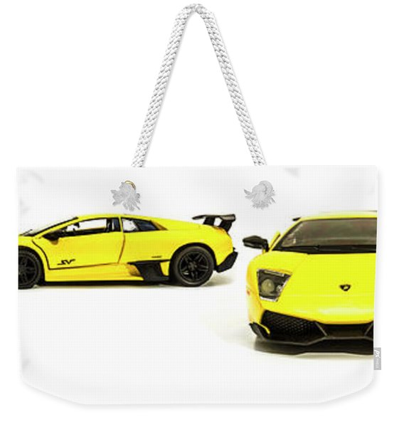 Long Lambo Lineup  Weekender Tote Bag