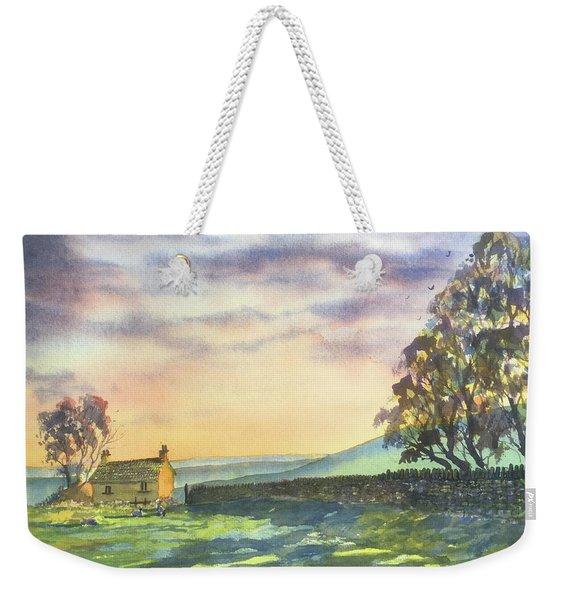 Long Shadows At Sunset Weekender Tote Bag