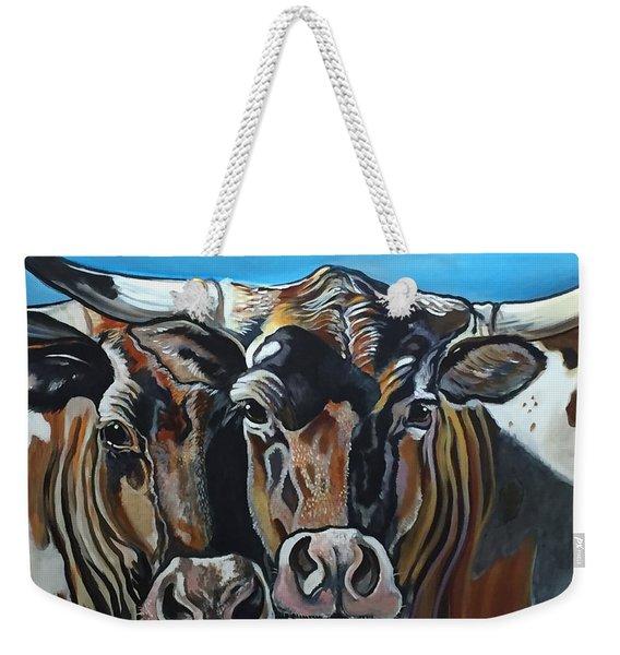Longhorns, Interrupted Weekender Tote Bag