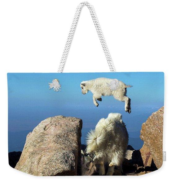 Look Ma, I'm Flying Weekender Tote Bag