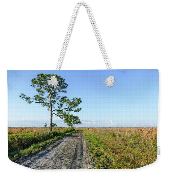 Weekender Tote Bag featuring the photograph Looking Across The Wetlands by Sally Sperry