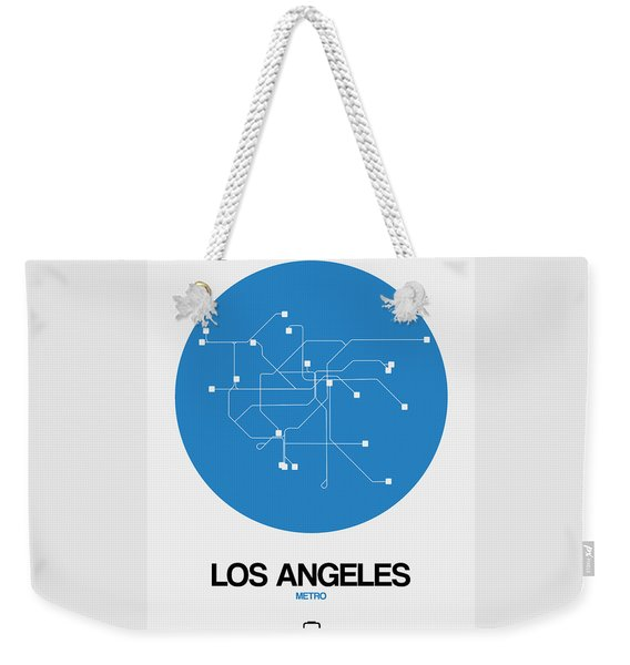 Los Angeles Blue Subway Map Weekender Tote Bag