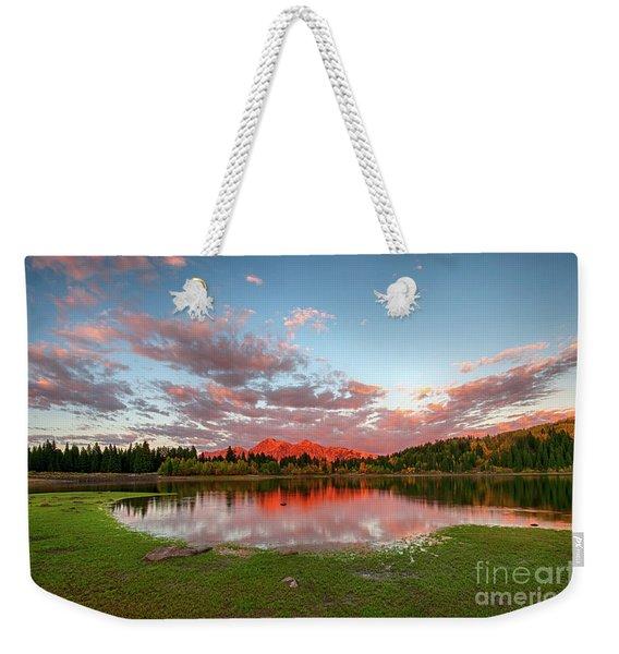Lost Lake Sunset Weekender Tote Bag