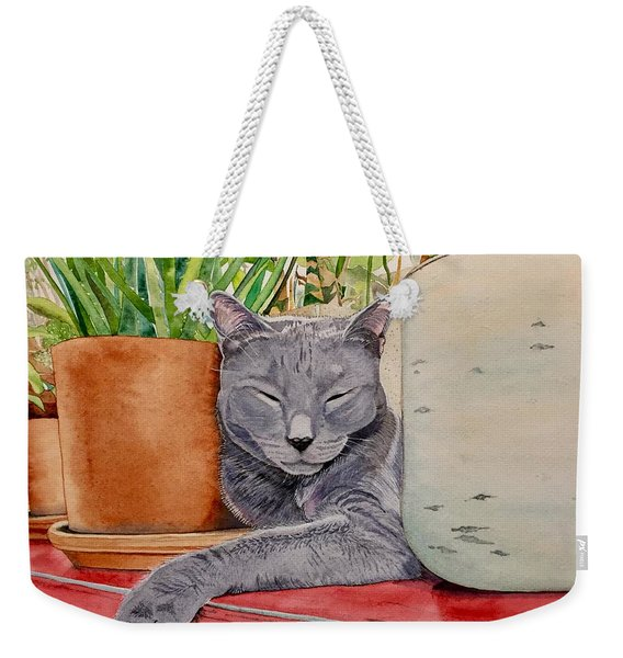 Louie In An Urban Jungle Weekender Tote Bag