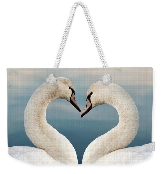 Love Swans Weekender Tote Bag