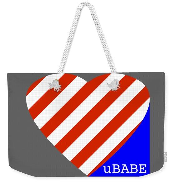 Love Ubabe America Weekender Tote Bag