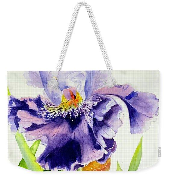 Lovely Iris Weekender Tote Bag