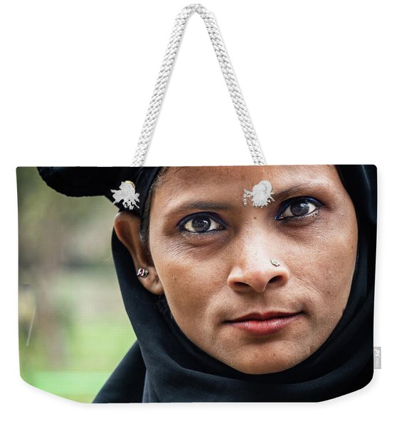 Weekender Tote Bag featuring the photograph Lovely Lady by Robin Zygelman