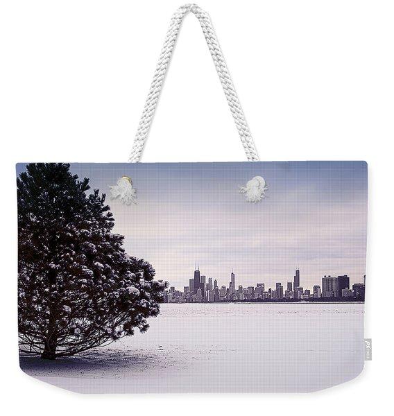 Lovely Winter Chicago Weekender Tote Bag