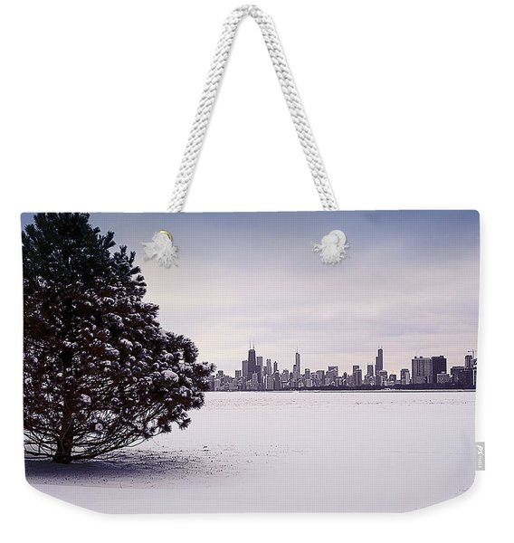 Lovely Winter Chicago Weekender Tote Bag
