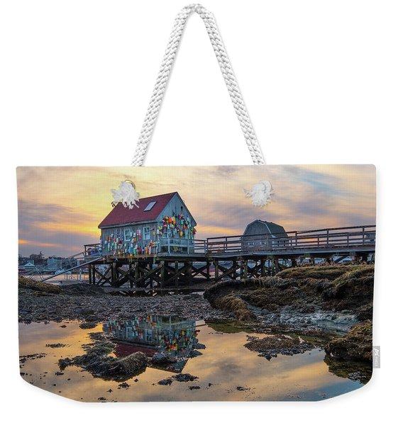 Low Tide Reflections, Badgers Island.  Weekender Tote Bag