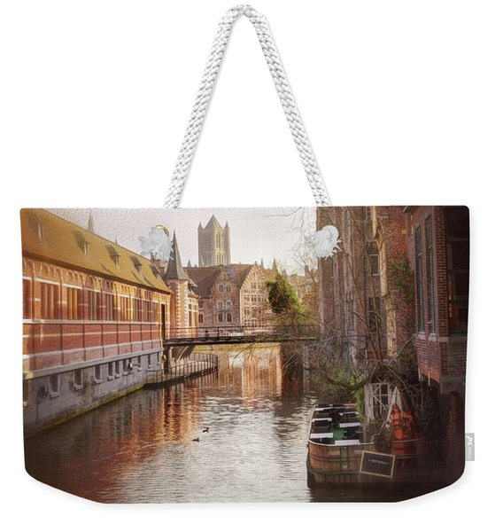 Low Winter Sun Ghent Belgium Weekender Tote Bag
