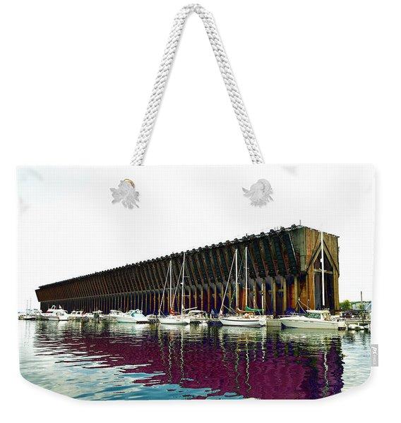 Lower Harbor Ore Dock At Marquette Michigan. Weekender Tote Bag