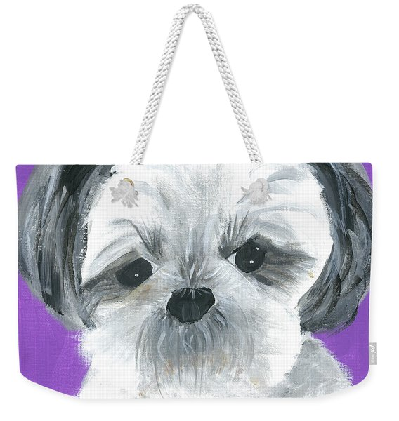 Weekender Tote Bag featuring the painting Lulu by Suzy Mandel-Canter