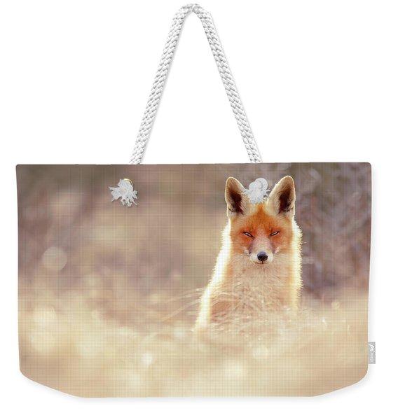 Luminous Fox Weekender Tote Bag